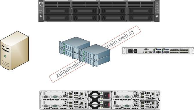 illustrasi server